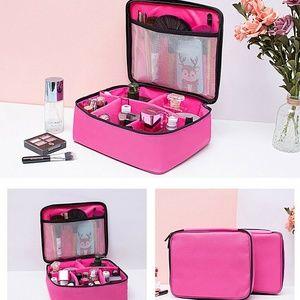 Black or Pink Multi-Space Travel Makeup Organizer
